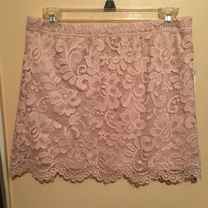 Beautiful Forever 21 Pink Floral Lace Mini Skirt